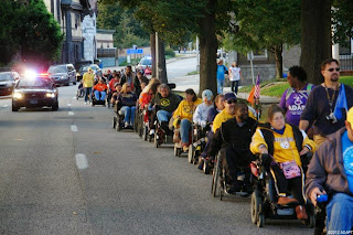Activsts using wheelchairs demand equality