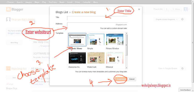 Learn how to register a website in blogger