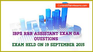 IBPS RRB Assistant Questions 2015
