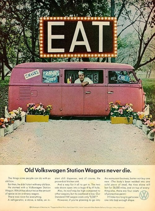 pubblicità anni '60 volkswagen furgone, agenzia Doyle Dane Bernbach