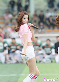 Im Yoona Korean Cute Girl Singer Sexy Photo at Namyangju Central Football Game 4