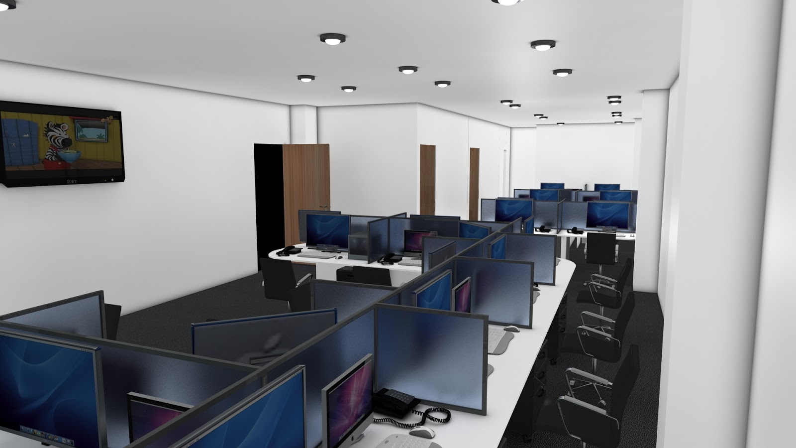 Sajid designs office interior design 3d max for Office design 3d
