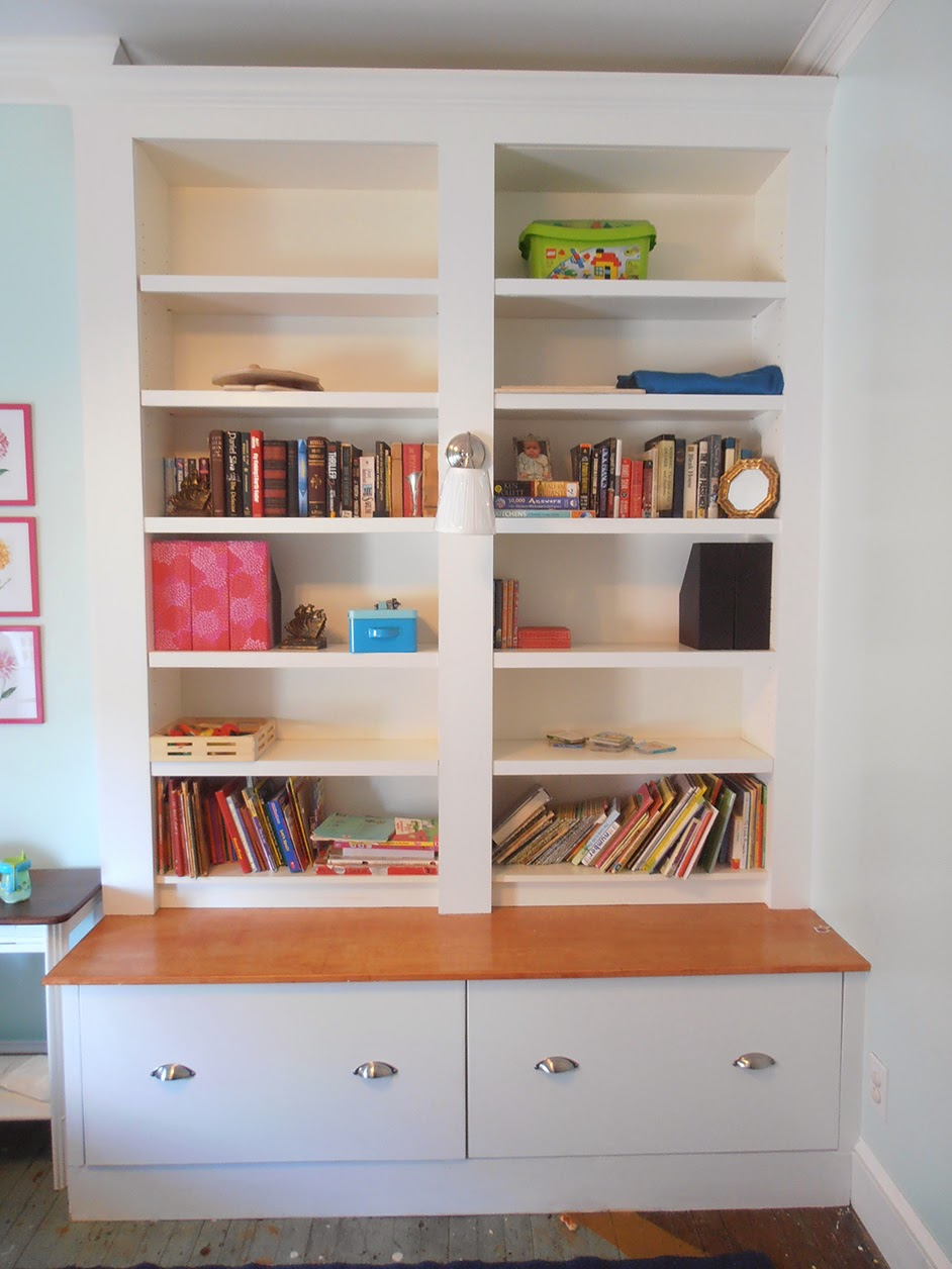 Den project built in billy bookcase ideas southern for Ikea bookcase with drawers
