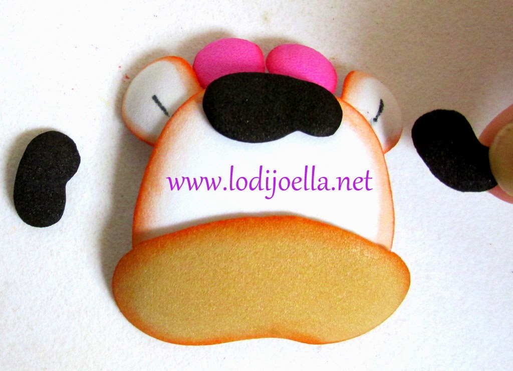 Cómo hacer una vaquita para la cocina en foami ~ lodijoella