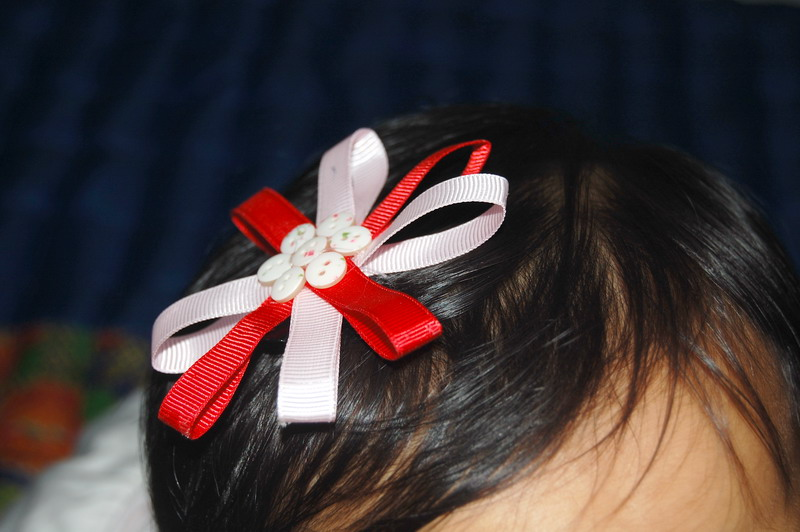 AnggitsaFlower Handmade: Jepit Bunga Pita (Ribbon Flower