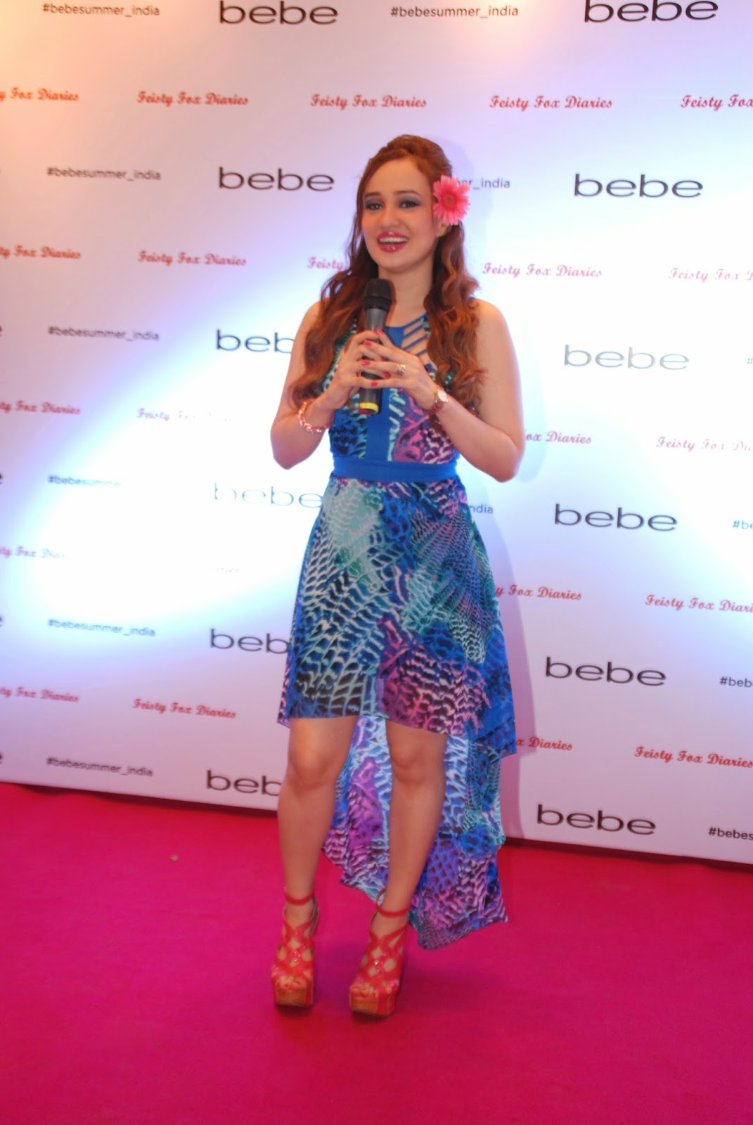 Stephanie Timmins host at Bebe Tropic Rendezvous Event, Mumbai