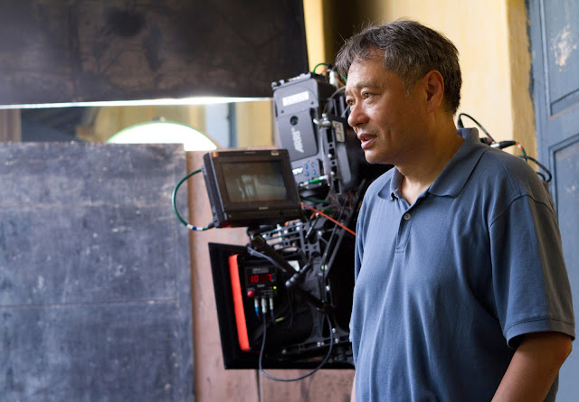 Ang Lee directing on set