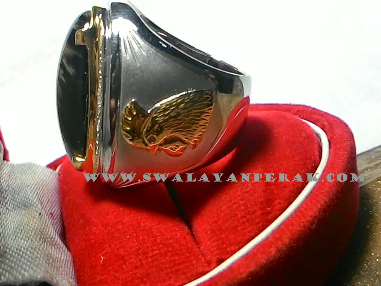 Contoh gambar cincint embem batu akik motif ayam