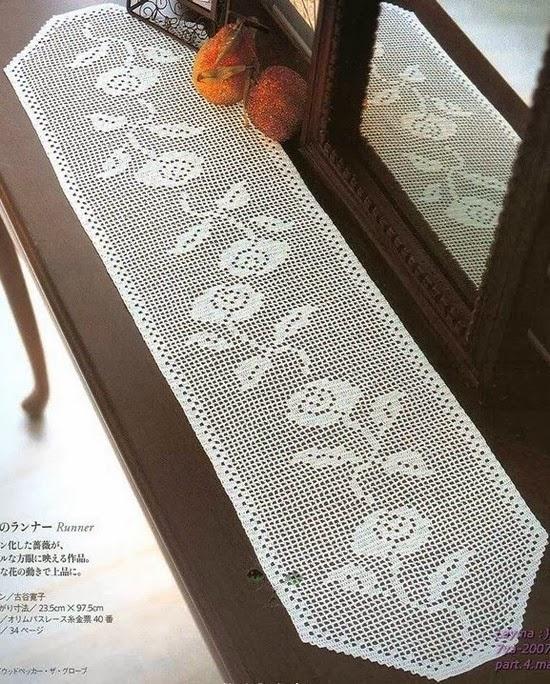 Crochet napkins - Napperon crochet chemin de table ...