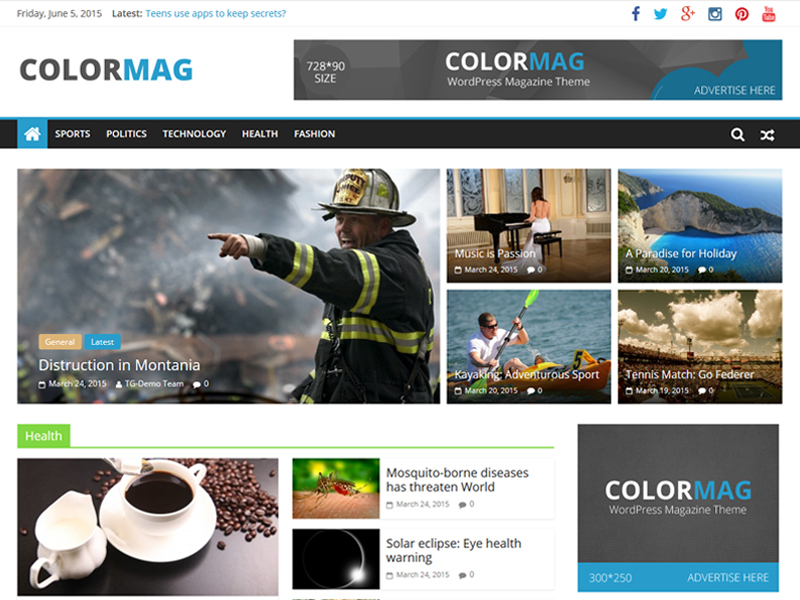 colormag wordpress themes free website templates word press themes