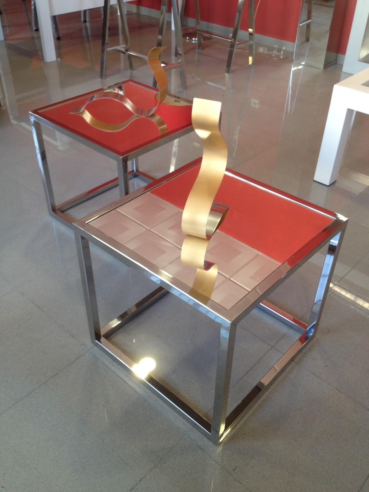Inoxidablesyforja mesa mod cubo mini con tapa de espejo - Espejo de mesa ...