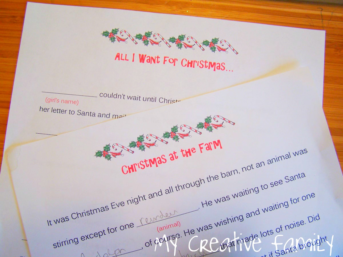 Christmas word games creative family fun christmas word games spiritdancerdesigns Gallery