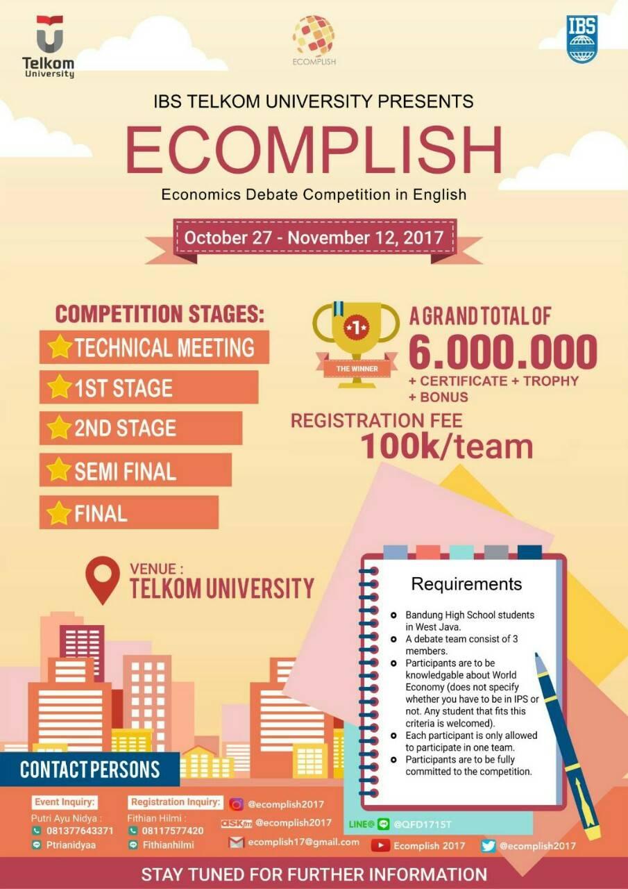 Lomba Debat Untuk Pelajar SMA ECOMPLISH 2017
