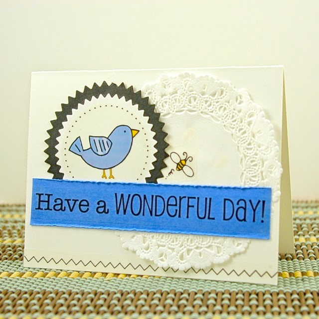 SRM Stickers Blog - Birdie Card Set by Michelle - #stickers #card #set