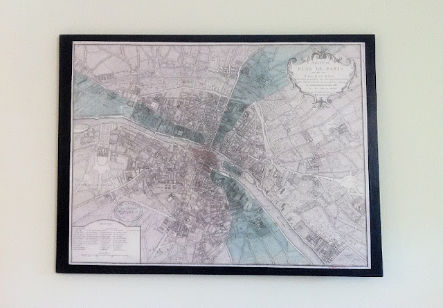 Decoupage Map Wall Art