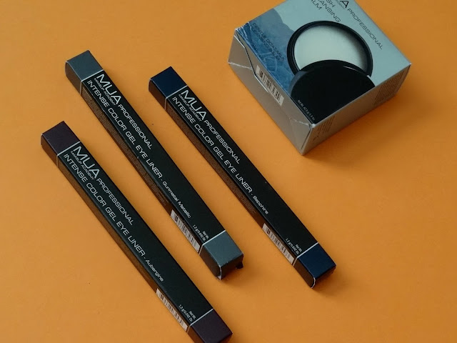 MUA Professional Intense Color Gel Eyeliner and Brush Cleansing Balm