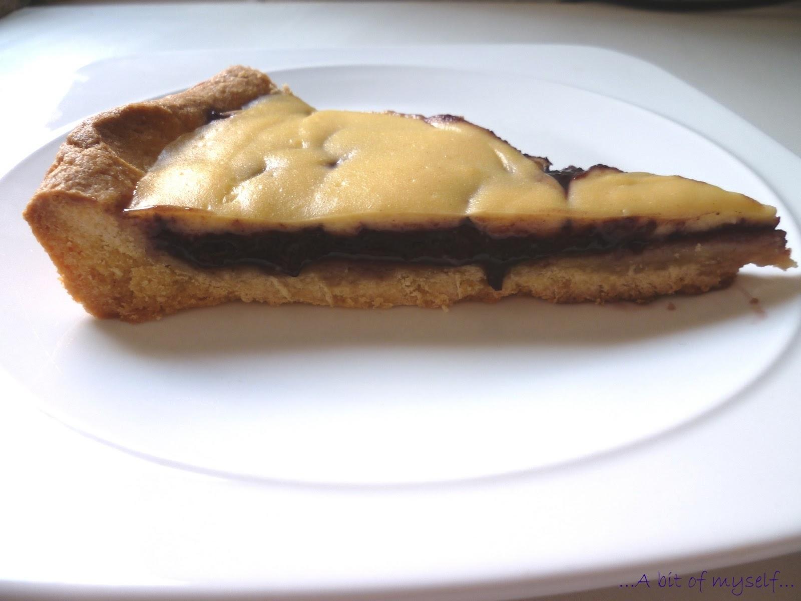 blackberry and custard tart