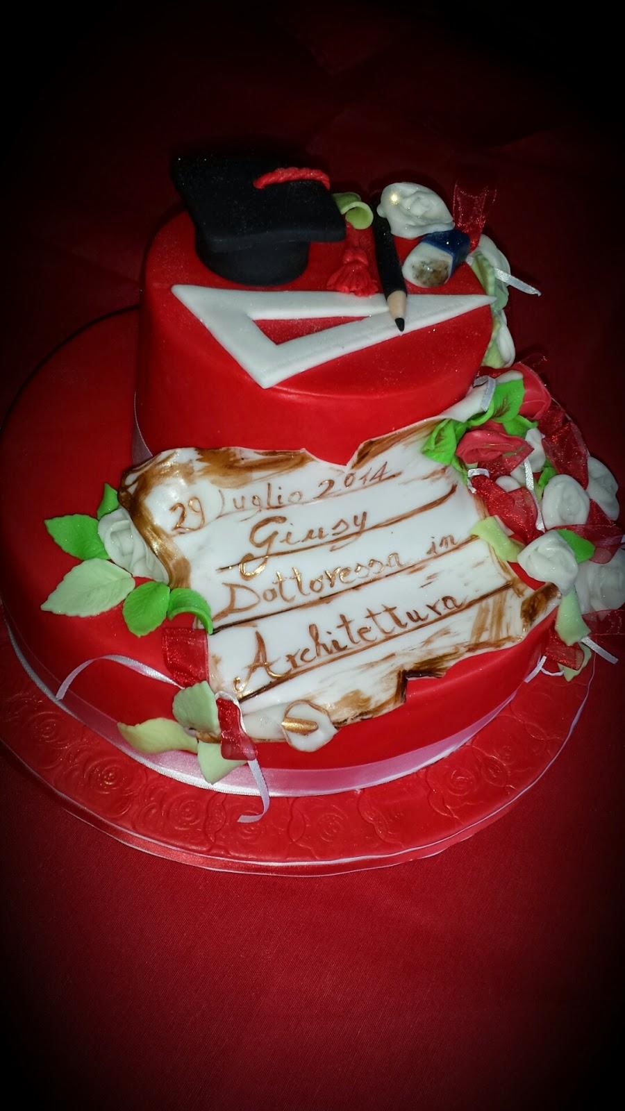 le mie dolci creazioni torta laurea architettura