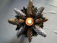 Centro de navidad con piñas, enredandonogaraxe