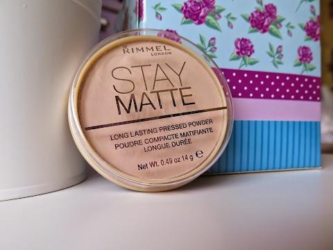 Rimmel stay matte kompaktinė pudra 005 silky beige