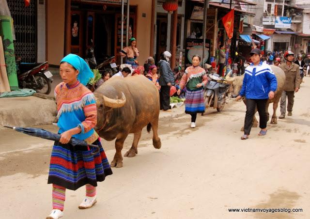 Sunday colorful at Bac Ha Minority Market