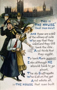 Leaflet ridiculing the Suffragettes