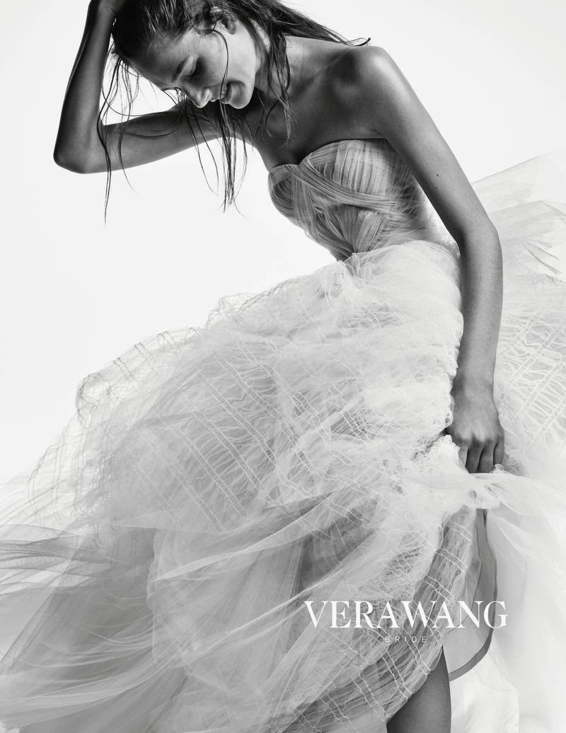 Vera Wang Bridal Fall/Winter 2014 Campaign starring Josephine Le Tutour