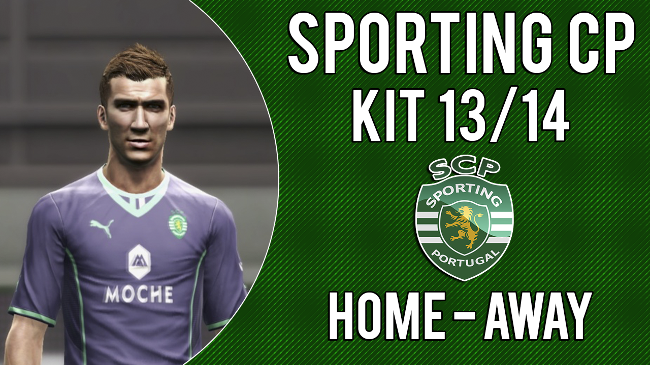 PES 2013 Sporting New Kit 2013 2014 Home Away Download