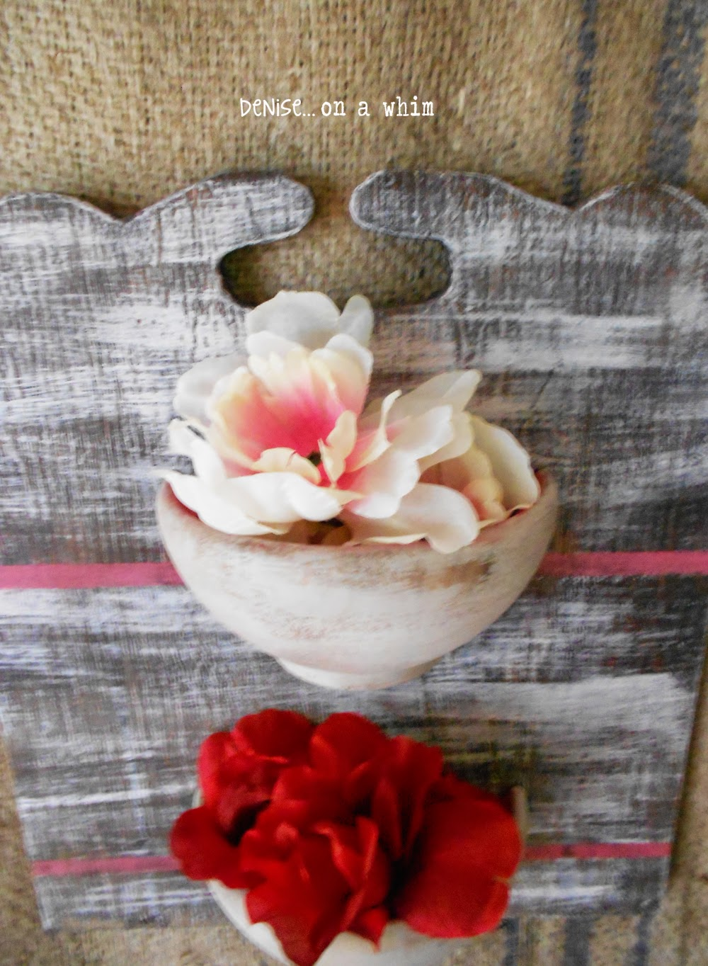 Salvaged wood from a magazine holder used with wooden bowls