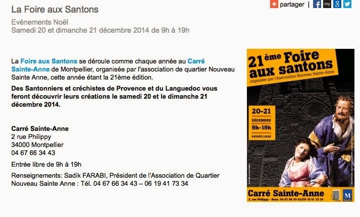 Artisans Du Monde-Montpellier: Foire Aux Santons Et Crèches Du