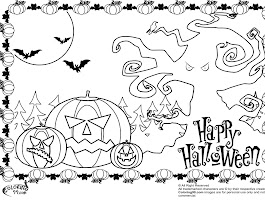Scary Halloween Pumpkins Coloring Pages
