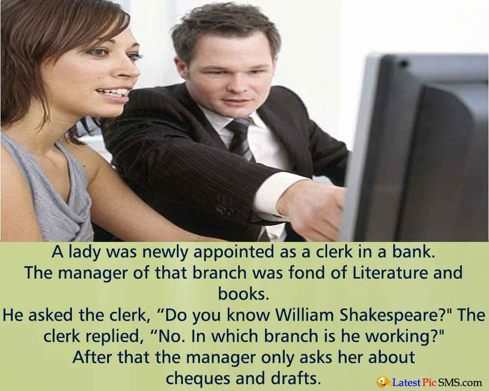 Bank Clerk funny jokes