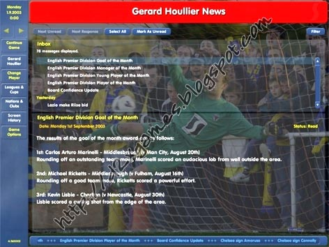 Free Download Games - Championship Manager 0304