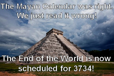 A Mayan Pyramid with a new apocalypse date of 3734