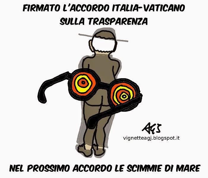vaticano, fisco, accordi internazionali, trasparenza, satira, vignetta