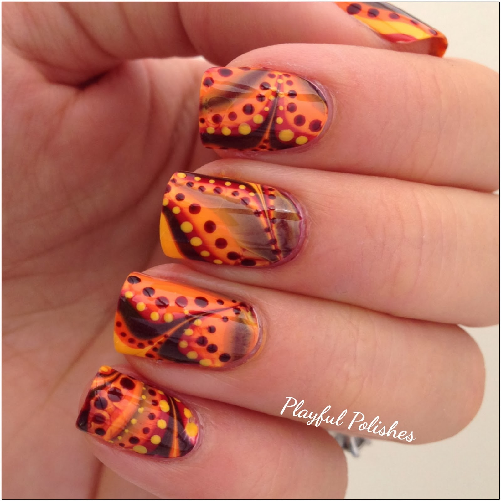 Playful Polishes: 31 DAY NAIL ART CHALLENGE: WATER MARBLE