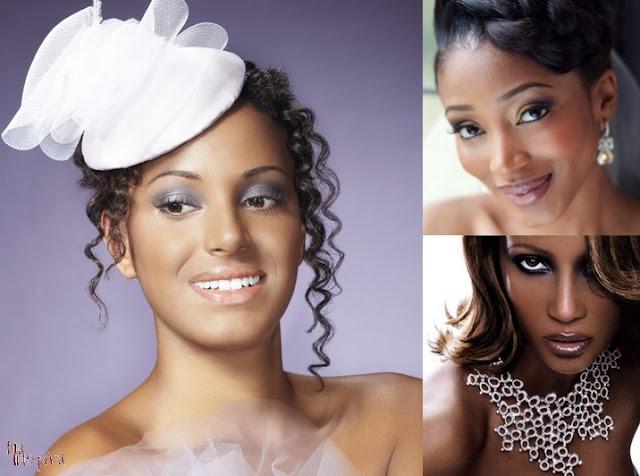 Maquiagem para os olhos de Noivas Negras