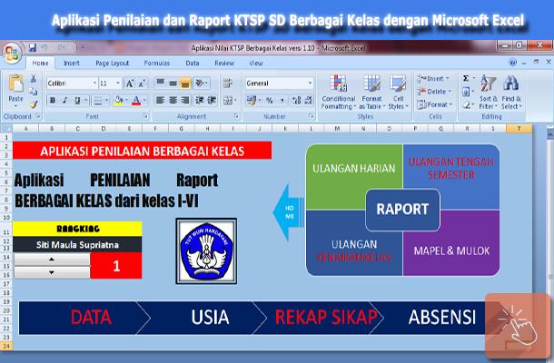 Aplikasi Penilaian dan Raport SD KTSP untuk Semua Kelas dengan Microsoft Excel