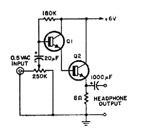 Simple Headphone Amplifier Circuit Diagram