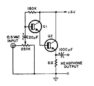 Simple Headphone Amplifier Circuit Diagram