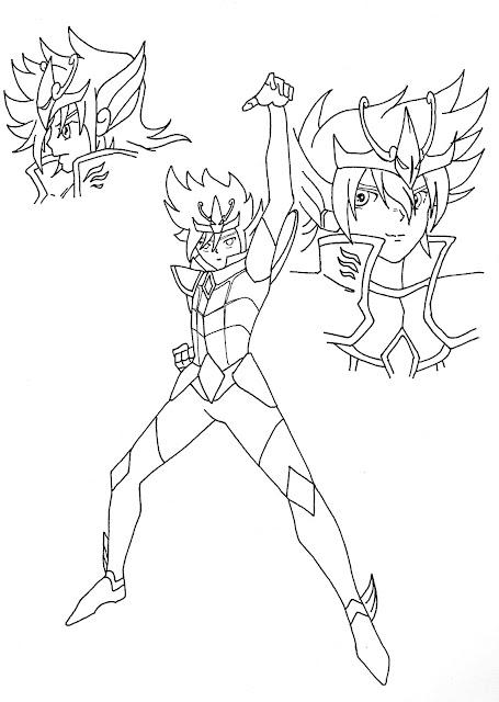 Encrage Koga Saint Seiya Omega et son Pegasus Ryu Seiken