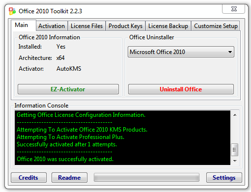 Office 2010 Toolkit y EZ-Activator v2.2.3 - Activador de Office 2010
