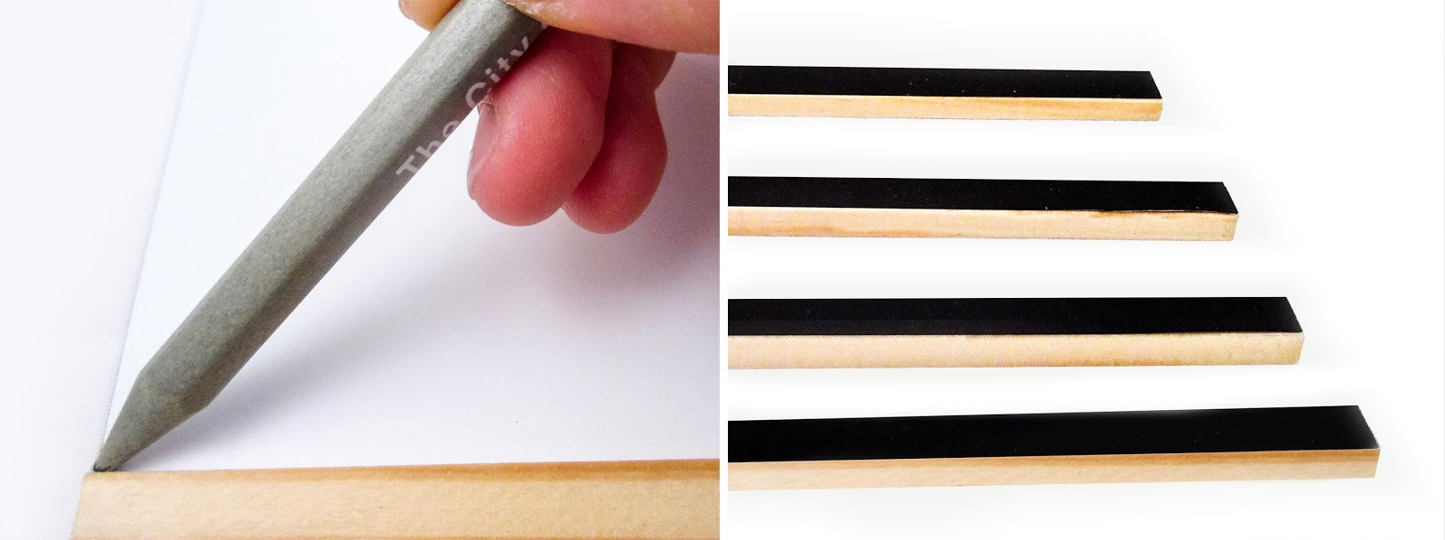 trace the length of the wooden sticks onto the adhesive magnet sheet four times then cut them out peel off the adhesive and stick onto each of your