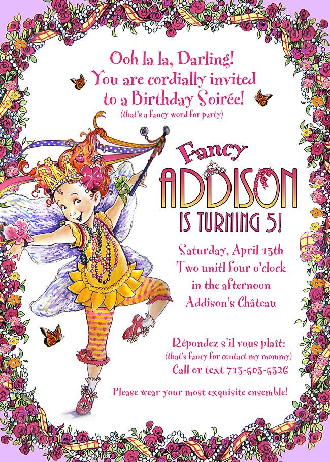 Parsons 411: Addison\'s Fancy Nancy Birthday Party