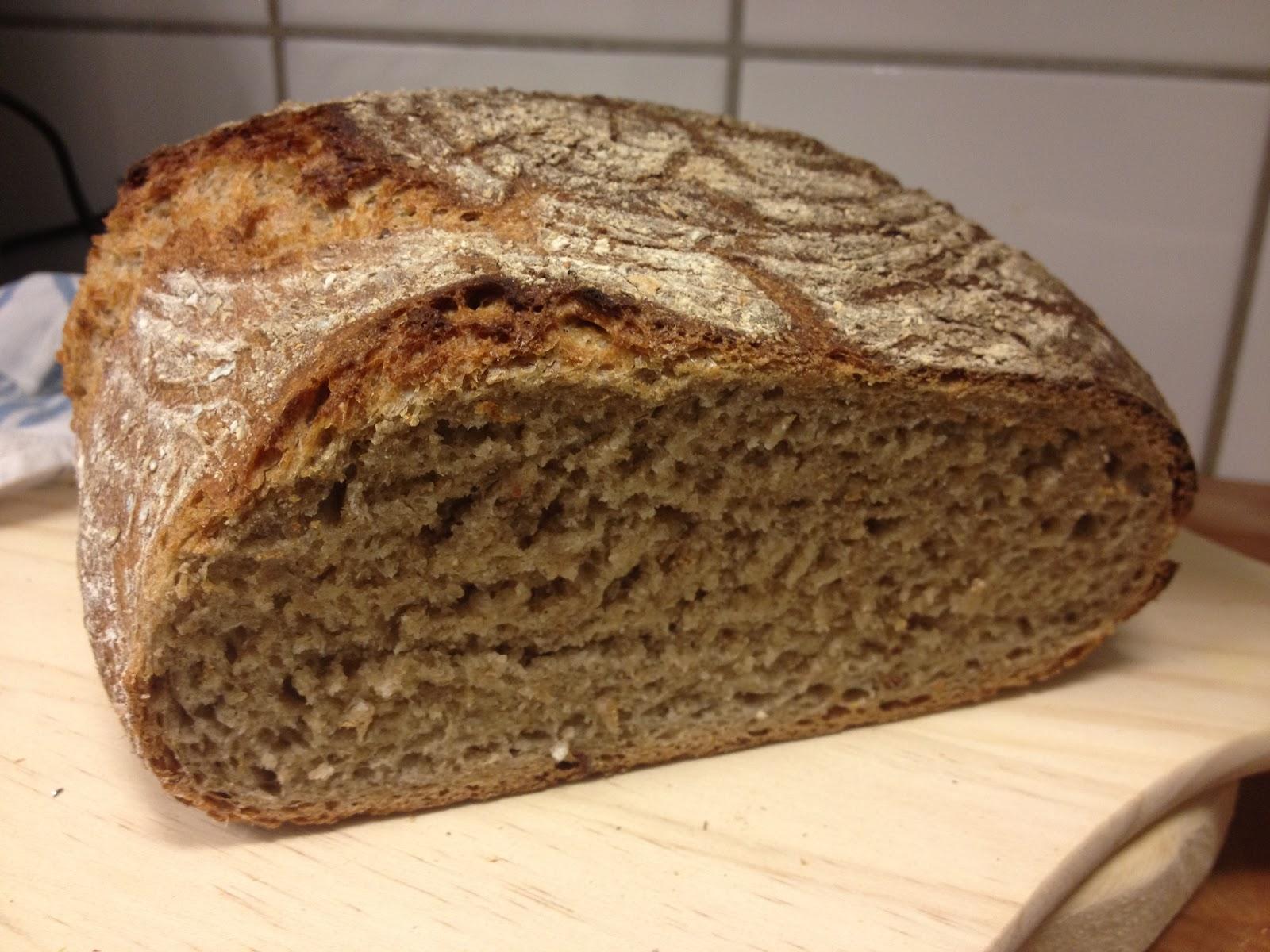 enkelt grovt bröd