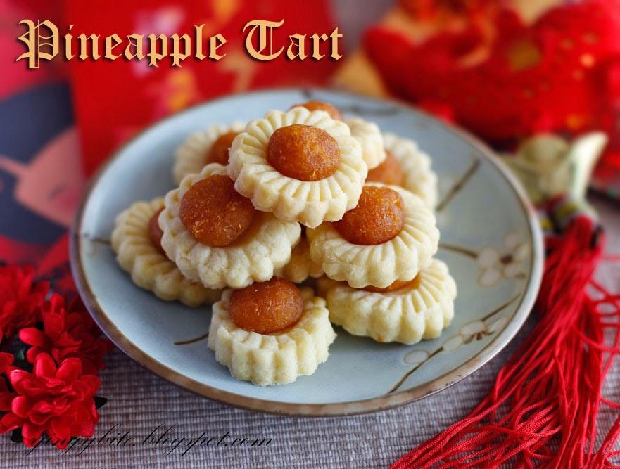 Open Face Flower Pineapple Tart 花形黄梨塔