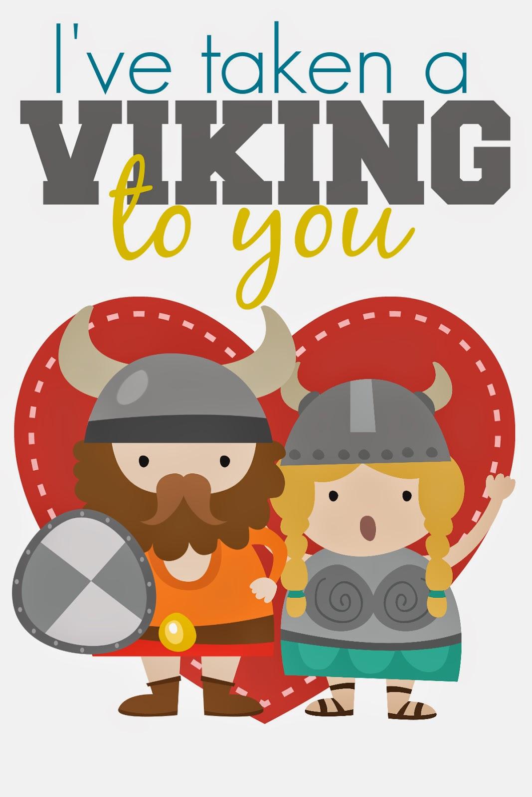 restlessrisa: Free Printable Valentine Viking
