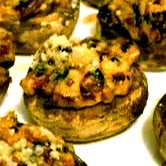 Surf and Turf Stuffed Mushrooms, Jimmy Dean Hearty Original Sausage Crumbles