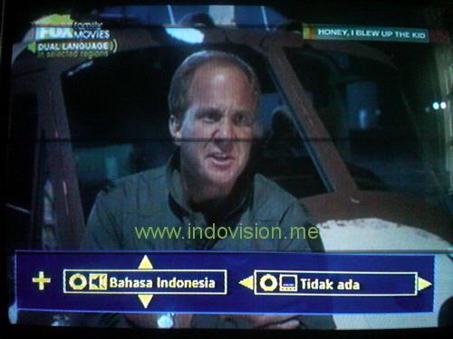 Bagaimana setting dua bahasa atau bilingual di Indovision?