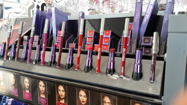 Urban Decay lipstick display